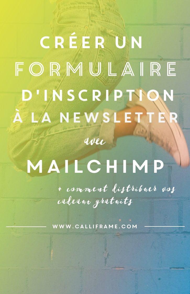 Créer un formulaire de #Newsletter #Mailchimp #blogging #tutoriel