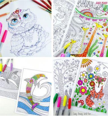 101 Free Adult Coloring Book Pages Kulonbozo Ingyenesen Letoltheto Felnott Szinezo