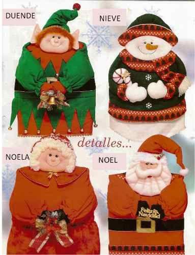 Patrón Kit Forro de sillas navideños