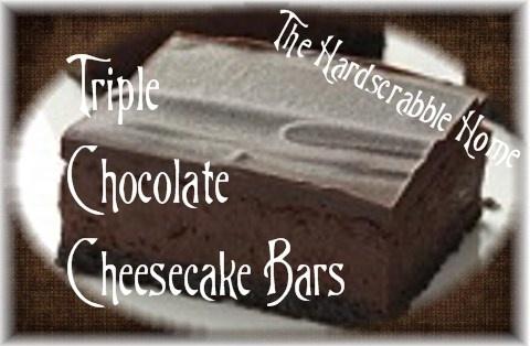 triple chocolate cheesecake triple chocolate cookies triple chocolate ...