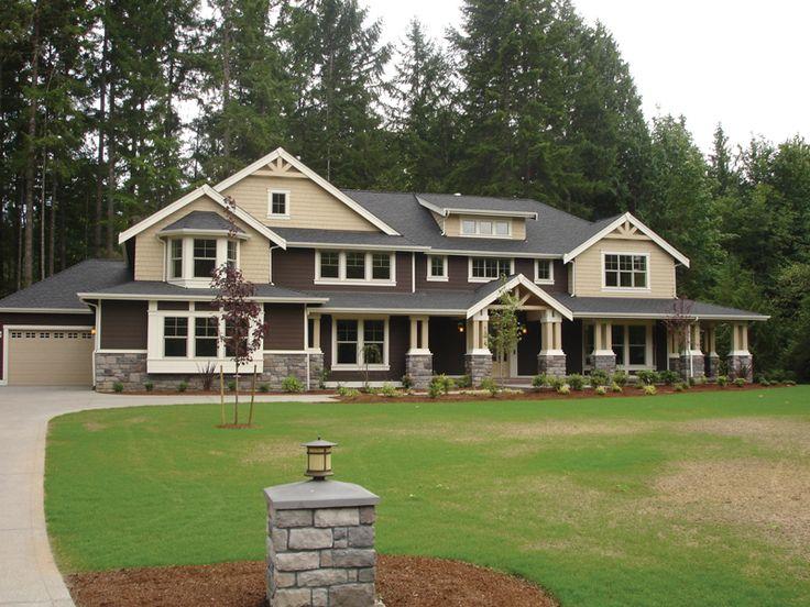 477 best craftsman house plans images on pinterest for Craftsman home plans with basement