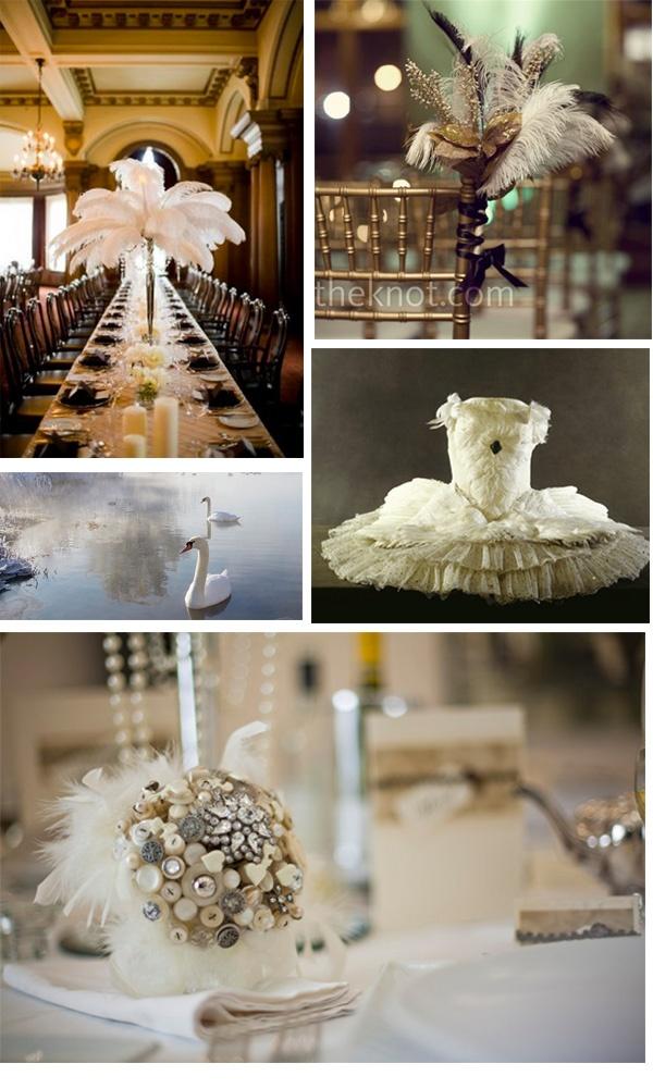 swan lake wedding theme