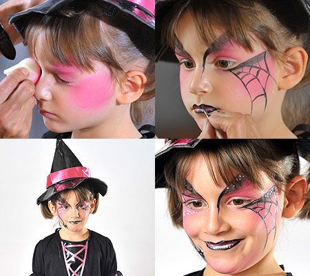 Sierra's witch costume - facepaint