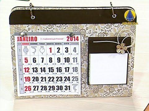 Sabor de Vida Artesanatos | Calendário de Mesa por Catiane Gobbi - 29 de...