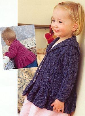 Жакет для девочки вязание спицами