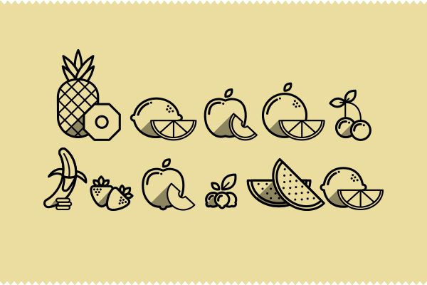 Fruit Icons by Guilherme Zamarioli