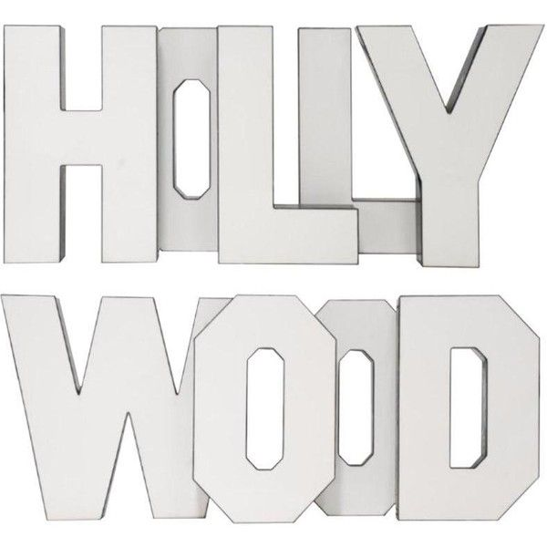 "Vintage ""Hollywood"" Letters - Set of 9 ($3,200) ❤ liked on Polyvore featuring home, home decor, wall art, novelty signs, text signs, word wall art, photo sculpture, red home decor and quote wall art"