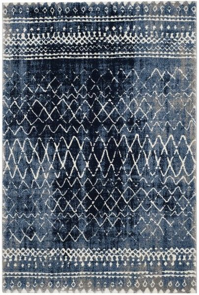 TUN298L Rug from Tunisia collection.  Rustic and casual, the Tunisia collection by Safavieh celebrates the rug weaving traditions of North Africa's ancient Berber tribes. Their simple geometric stripes, triangle and diamond motifs are the inspiration for soothing designs for rugs that are power loomed of long-wearing polypropylene in a palette of natural mountain-wool tones.
