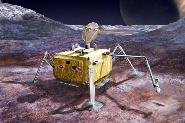 NASA reviews concept to land probe on surface of Jupiter's moon Europa