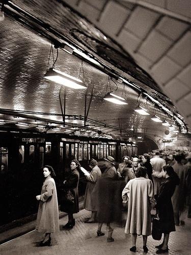 Metro en Madrid. años 50.