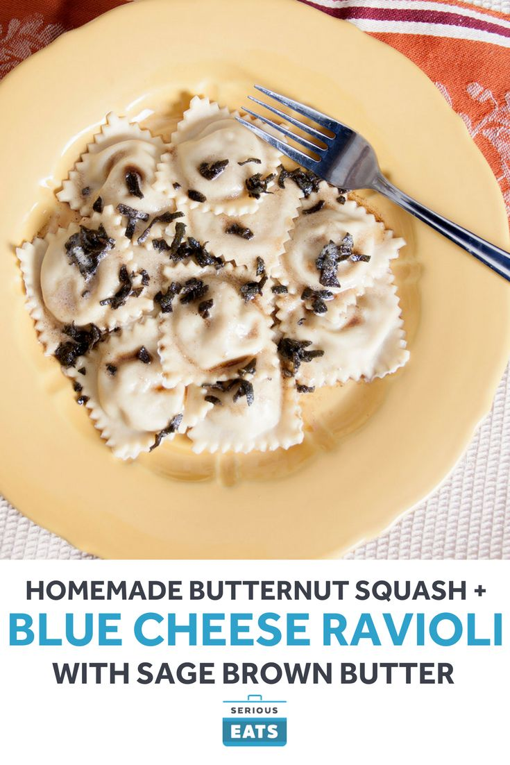 Homemade Butternut Squash and Blue Cheese Ravioli With ...