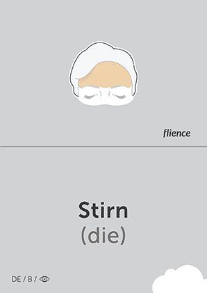 Stirn #CardFly #flience #human #german #education #flashcard #language