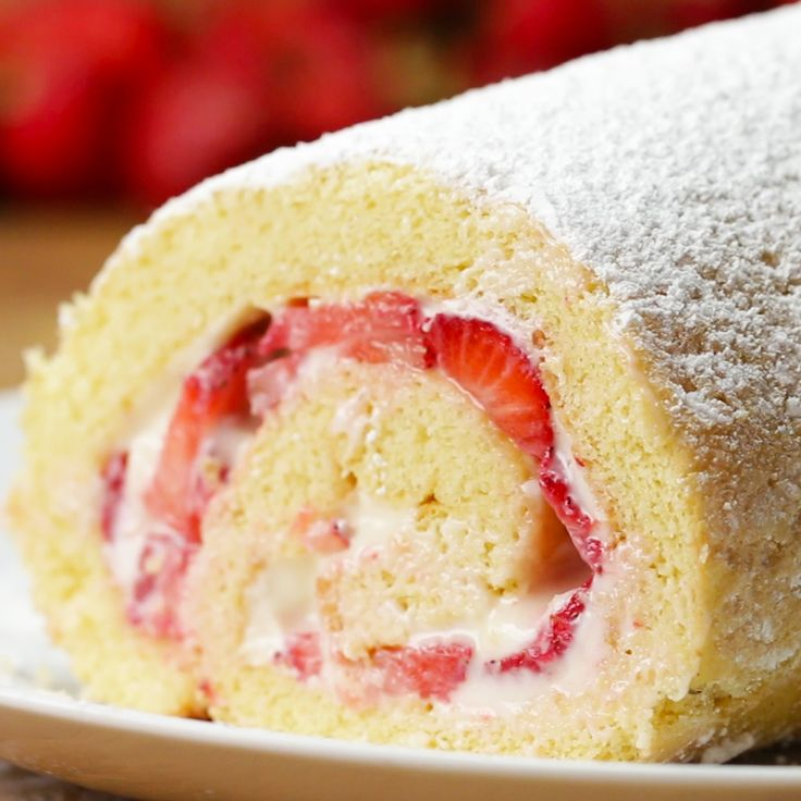 Strawberry Cheesecake roll!