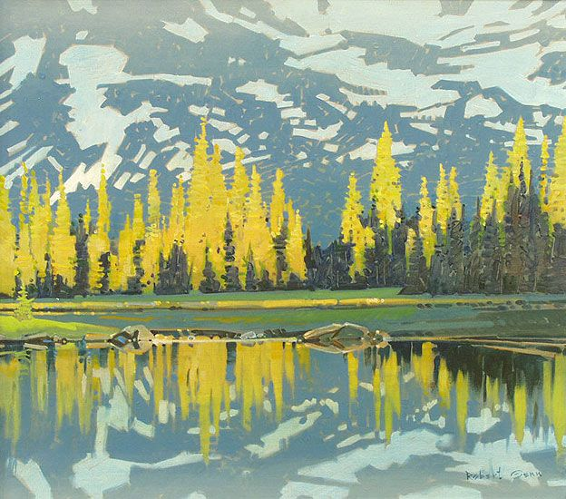 Robert Genn - Evening Reflection Surprise Lake Tonquin Valley