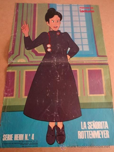 PÓSTER DE LA SEÑORITA ROTTENMEYER, ( SERIE HEIDI Nº 4 ) REVISTA LECTURAS. AÑOS 70