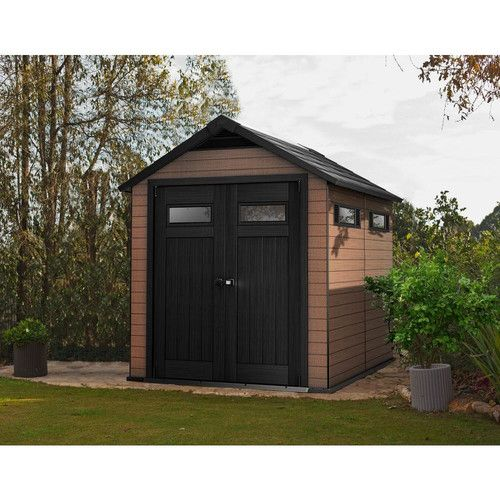 Found it at Wayfair Supply - Fusion 7.5 Ft. W x 9.4 Ft. D Plastic Storage Shed