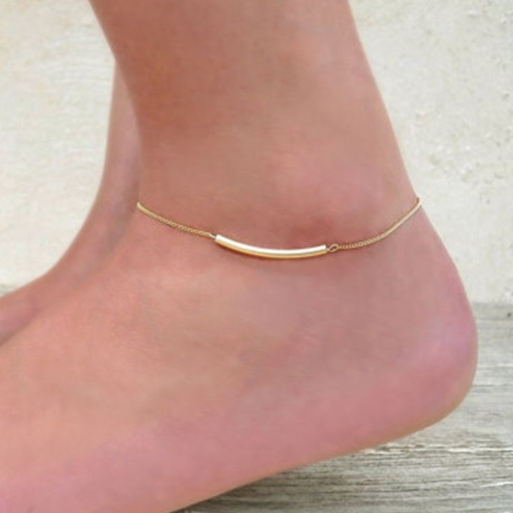 New Fashion Summer jewelry U Tube Anklet Gold  Tube Anklet Chain    JK013 //Price: $1.00 & FREE Shipping //     #hairextension #style #beauty #woman #love