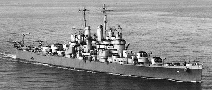 Light cruiser USS Cleveland CL-55!