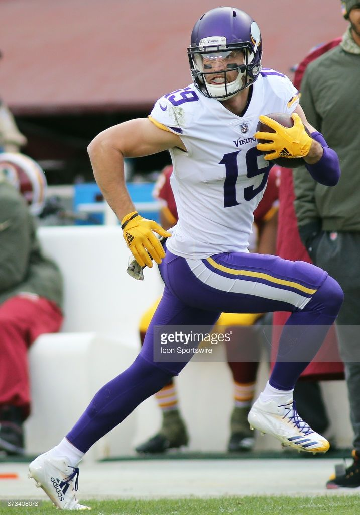 News Photo : Minnesota Vikings wide receiver Adam Thielen in...