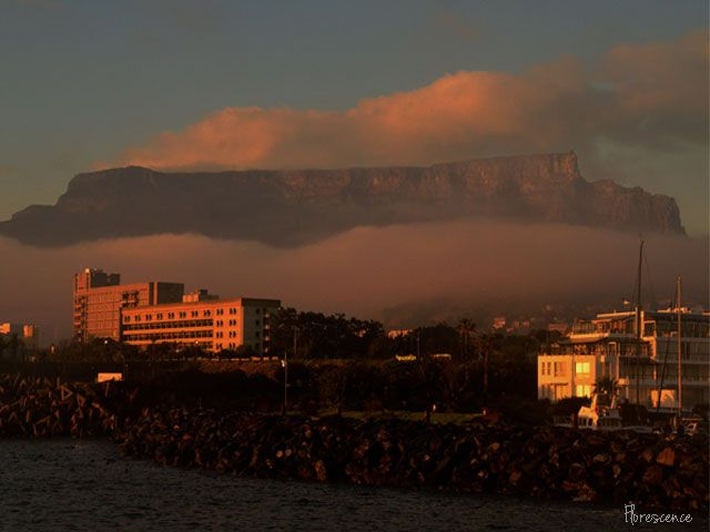 Sunrise, Table Mountain, Cape Town, South Africa, August 2012, (c) Florescence