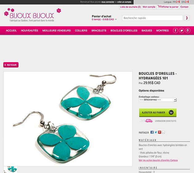 Conception et création de la boutique en ligne Bijoux Bijoux