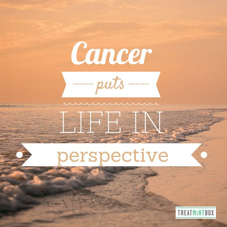 Inspirational quote about cancer http://www.treatmintbox.com