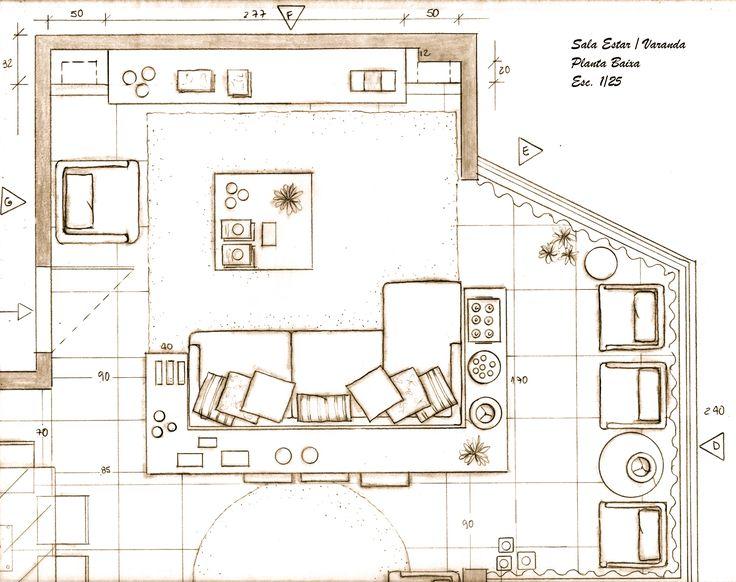 Sala De Tv Planta Baixa ~ Sala Estar  Varanda Planta Baixa  Ideias para a casa  Pinterest