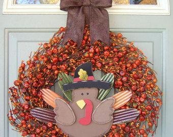Gracias corona - guirnalda de acción de gracias del otoño - Fall/Otoño corona - guirnalda de puerta caída - caída puerta Decor guirnalda