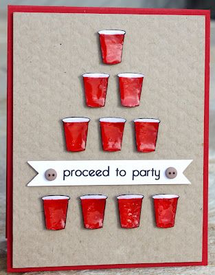 Red Solo Cup!!Solo Cups, Cups Parties, Beer Pong, Cards Ideas, 21St Birthday, Birthday Cards, Cups Cards, Parties Ideas, Red Solo