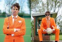 Oranje pak | geweldig en betaalbaar herenpak - kleur oranje |  leuke outfit voor Koningsdag of het WK | Bekijk het pak online op: http://www.zook.nl/feest/kleding/oranje-pak