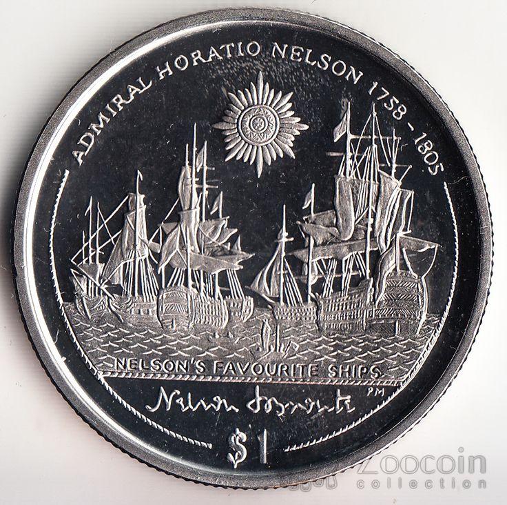 Брит. Виргинские острова 1 доллар 2005 Жизнь Г. Нельсона (5)
