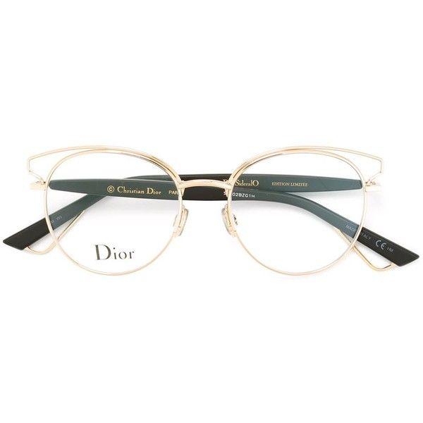 Dior Sideralo Glasses (620 CAD) ❤ liked on Polyvore featuring accessories, eyewear, eyeglasses, metallic, metallic glasses, christian dior, christian dior eyewear, christian dior eye glasses and christian dior eyeglasses