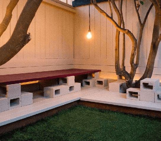 Las 25 mejores ideas sobre patios de ladrillo en for Bloques cemento para jardin
