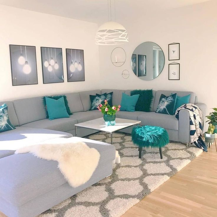 A Simple But Elegant Space Teal Living Rooms Living Room