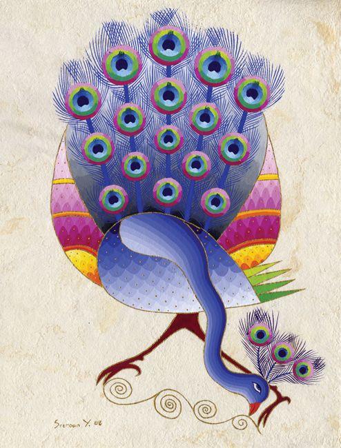 Peacock by Artist Seeroon Yeretzian...