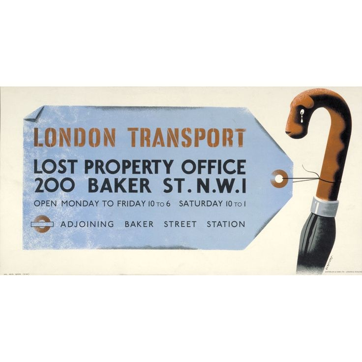 Poster: London Transport Lost Property Office, 1945