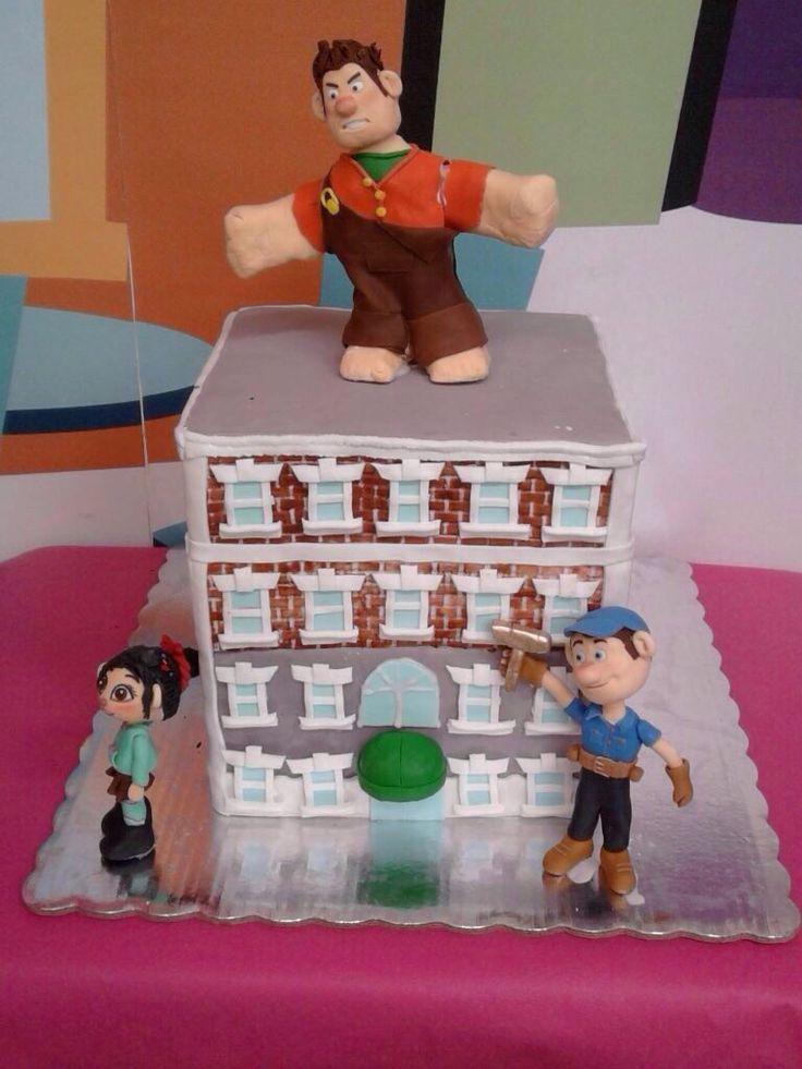 Pastel de fondant, fondant cake, Ralph el demoledor, Wreck it Ralp
