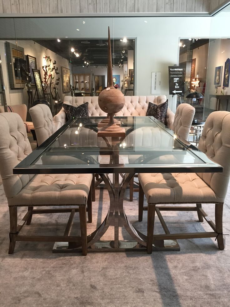 Shown Is Our Brion Dining Table And Flynn
