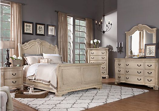Shop for a Cortinella Queen White 5Pc Sleigh Bedroom at Rooms To Go. Find Bedroom Sets that will look great in your home and complement the rest of your furniture.