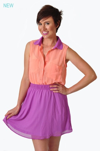 PrettyPlease Colour Block Dress  On sale now for only R220!!!!!  www.prettyplease.co.za