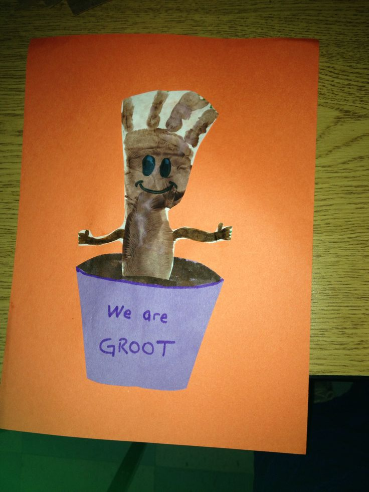 Groot Handprint Craft Marvelous Disney Crafts For