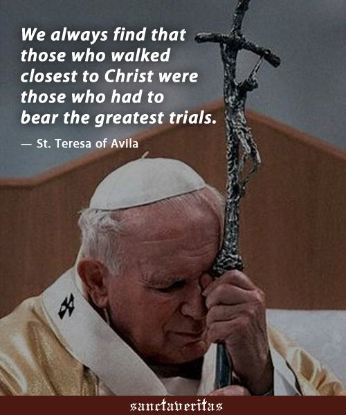 """(via Kuureta Toakai) St. Teresa of Avila - """"...those who walked closest to…"""