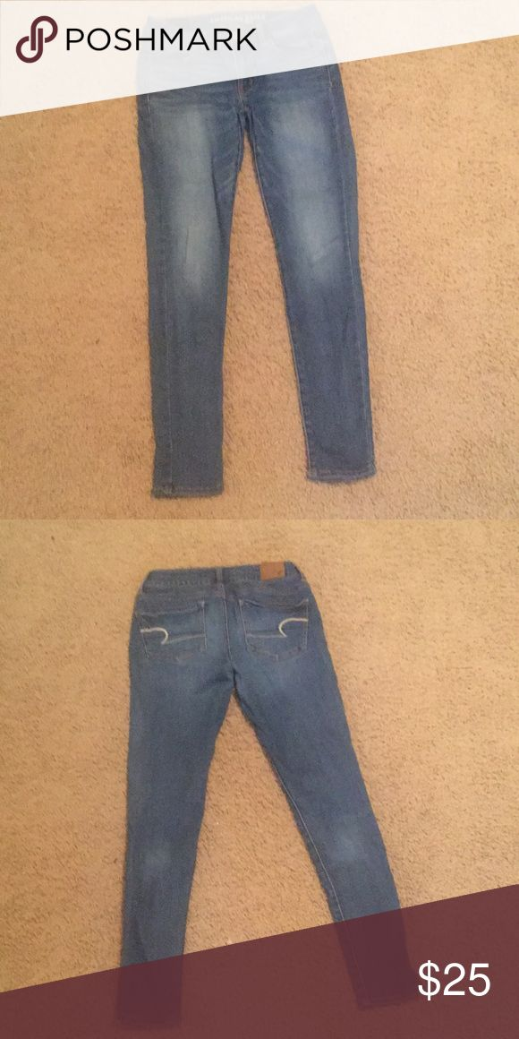 American Eagle Super Stretch Jean Size 5 Excellent Condition American Eagle Outfitters Jeans Skinny