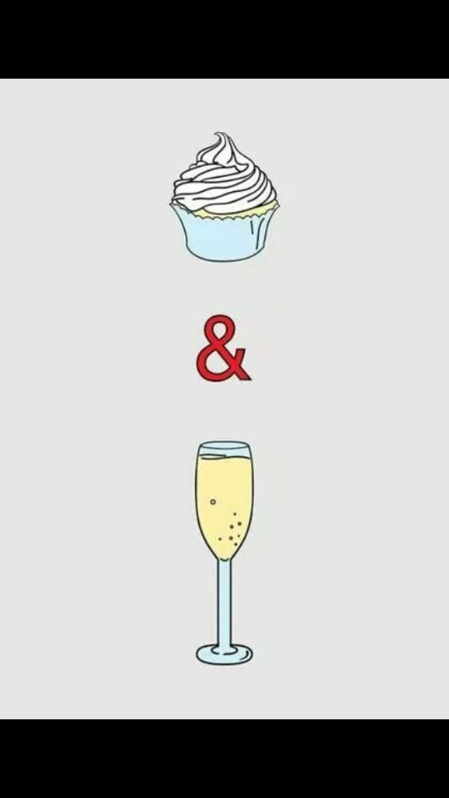Champagne and cupcakes for life