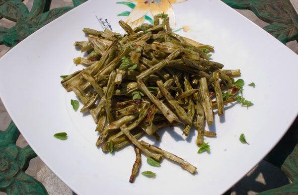 Green Bean chips, crunchy & healthy!Nomr