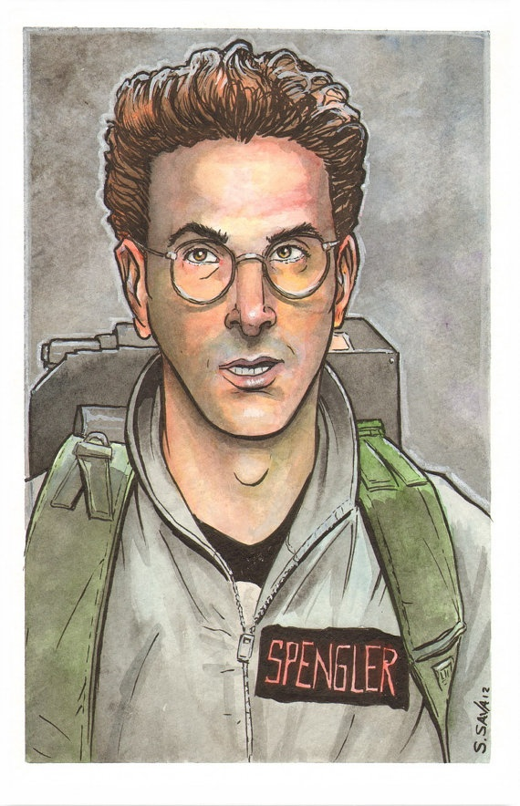 Ghostbusters Egon Spengler Watercolor by ScottChristianSava