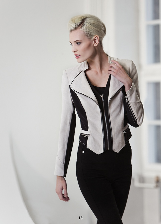 Stylish blazer in imitation suede, KRISS Sweden