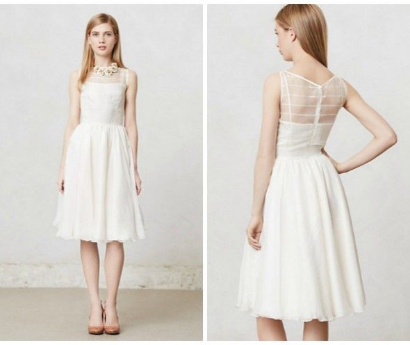Superb civil wedding dress