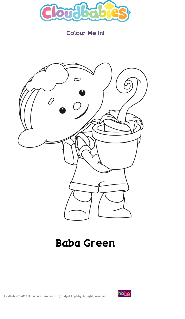 cloudbabies coloring pages for kids - photo#10