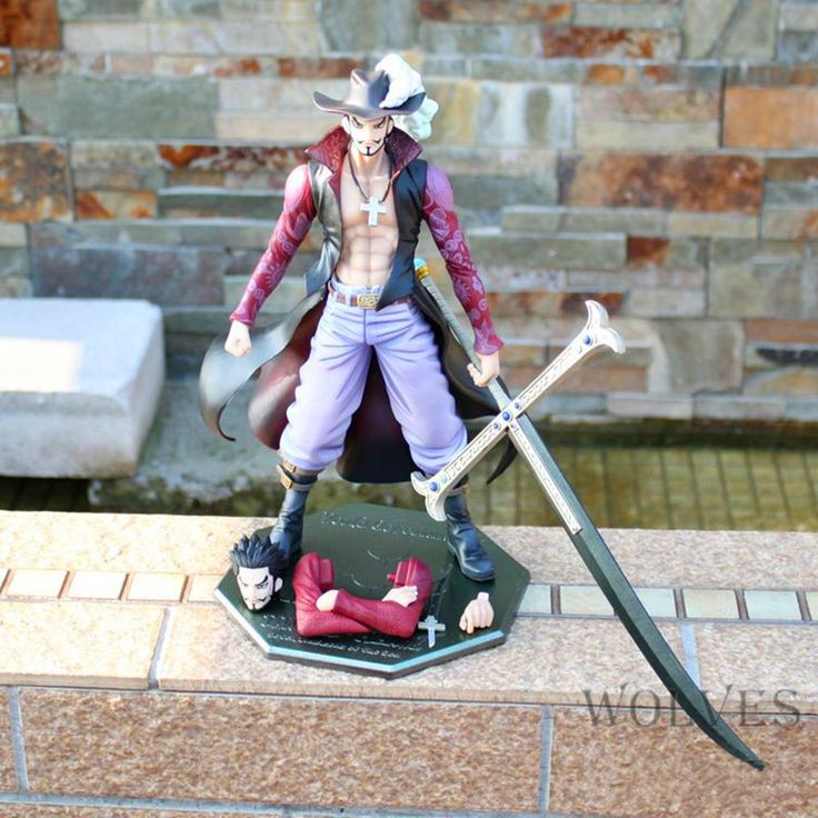 Anime One Piece POP DX Hawk Eye Dracule Mihawk Ver.2 10th Anniversary 26cm PVC Action Figure Collectible Model Toy Boxed W174 #Affiliate